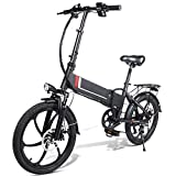 Asseny Electric Folding Bike Bicycle Moped Aluminum Alloy 35km/h Foldable for Cycling Outdoor