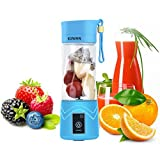 KUWAN Mini Rechargeable Portable Electric Fruit Juicer Cup Personal Sports Juice Blender 13 Ounce...