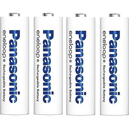パナソニック eneloop 単3形充電池 4本パック スタンダードモデル 連結できる電池ケースサービス(ブルー)