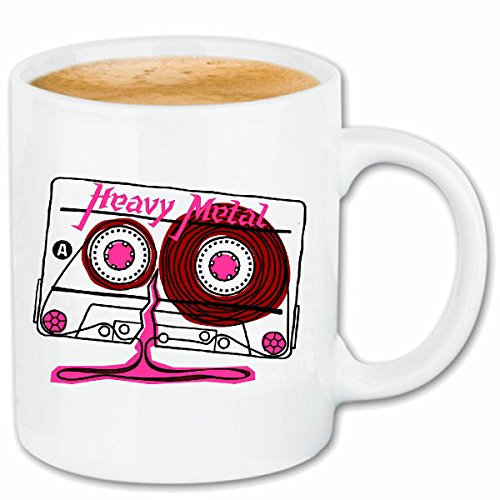Reifen-Markt Kaffeetasse Heavy Metal MUSIKKASSETTE KASSETTENREKORDER Retro BANDSALAT Techno Jazz Funky Soul Trance Festival House Hiphop HIP HOP DJ Keramik 330 ml