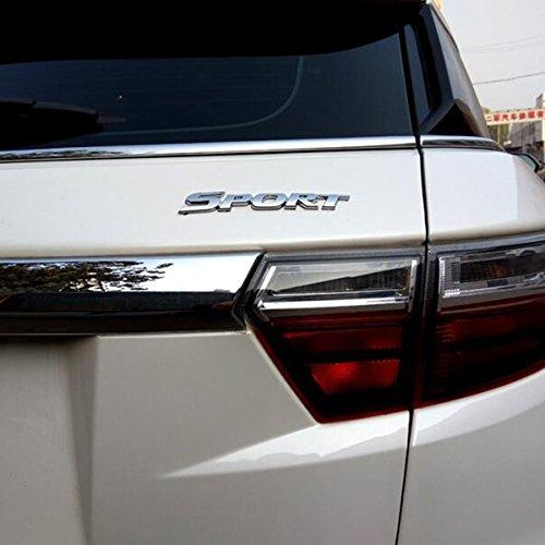 TK-KLZ 3D Metal SPORT Premium Car Side Fender Rear Trunk Emblem Badge Decals for JEEP BMW Dodge Mercedes Benz Chrysler Toyota Honda Nissan Kia Chevrolet Ford VW