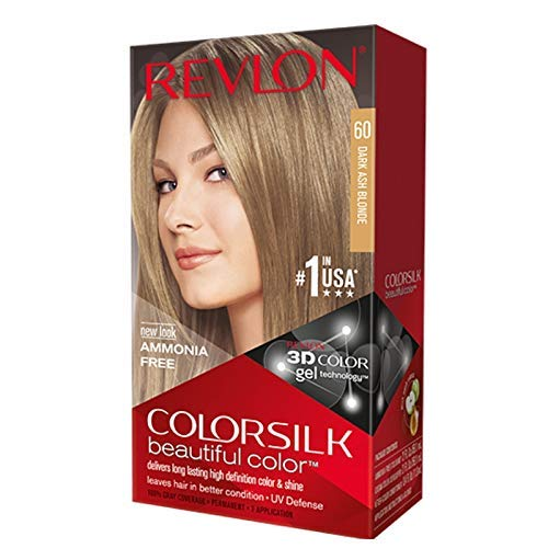 Revlon ColorSilk Hair Color, 60 Dark Ash Blonde 1 ea (Pack of 3)
