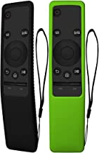 TOLUOHU 2PCS Silicone Protective Case for Samsung Smart TV Remote Controller BN59 Series, Light Weight Kids-Friendly Silicone Cover Anti-Slip Shockproof Anti-Lost with Hand Strap (Black+Green)