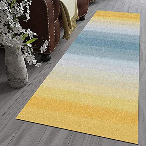 Alfombra de pasillo antideslizante, de poliéster, lavable, no se decolora, para pasillo, cocina, sala de estar, ancho: 60 cm, 100 cm, 110 cm (color: A, tamaño: 100 x 800 cm)