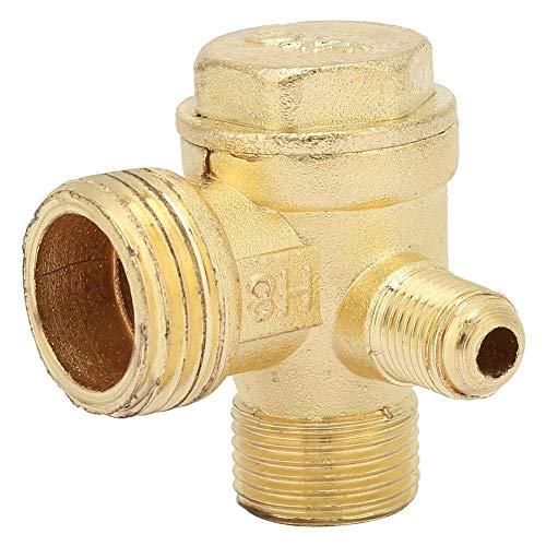 Rückschlagventil,Luftkompressor-Messing-Dreiwege-Rückschlagventil Mann Ventil Verbinder Werkzeug Luft Kompressor zum Verbinden von Rohrverbindungsstücken
