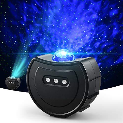 Proiettore galassia, Proiettore Stelle LED con Starry Stella Luna Onda d' Acqua Effetto Onda,Lampada Proiettore Stelle USB è Luce per Proiettore per Camera da Letto / Festa / Regali di Compleanno