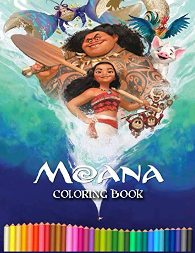 Moana coloring book: moana coloring book for toddlers