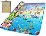 WXWS Waterproof Double Sided Baby Kids Playmat with Bag
