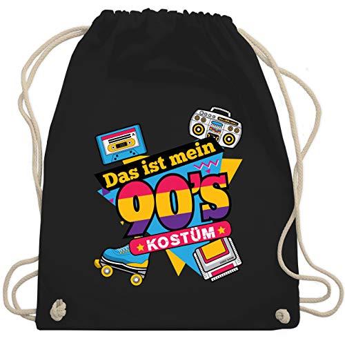 Karneval & Fasching - Das ist mein 90er Jahre Kostüm - Unisize - Schwarz - 90er jahre - WM110 - Turnbeutel und Stoffbeutel aus Baumwolle