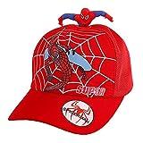 PRETAY Cappello Bambino Cappellino Estiv Cane da Spider Man e Ragazze Baseball Tappo Cotone Cappello da Sole Tappo Bordo Hip-Hop del Berretto da Baseball Regolabile Cappello (Color : Red, Size : M)