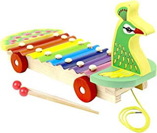 AGAWA Brain Teasers, Wooden Peacock Piano Kids Animal Early Learning Education Music Instrument Gift