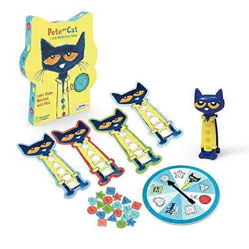 Educational Insights Pete the Cat I Love My Buttons Game - Preschool Shapes Matching Game