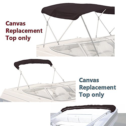 SavvyCraft Bimini TOP Boat Cover Canvas Fabric Black 4 Bow 96