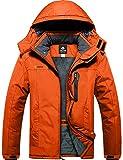 GEMYSE Chaqueta de esquí Impermeable de montaña para Hombre Abrigo de Invierno al Aire Libre de...