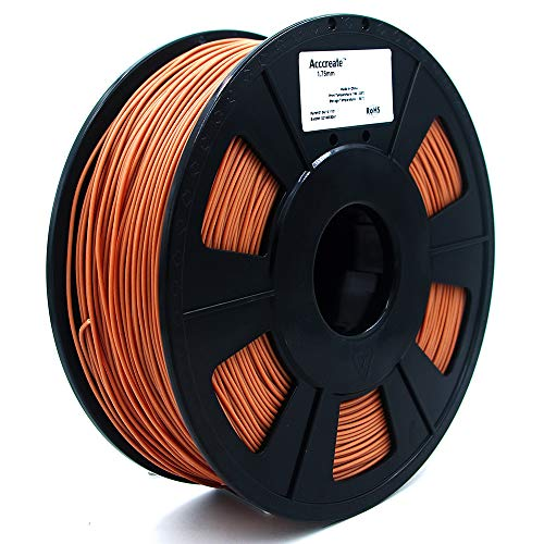 Weistek 1.75mm PLA Filament, 3D Printer Metal Filament, Dimensional Accuracy +/- 0.03 mm, 1.1 LBS(0.5 KG) Spool, Filament for 3D Printers, Copper