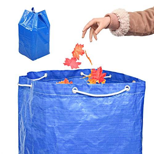 Sacs à ordures avec cordon de serrage Tissu tissé en PE Sac à ordures réutilisable pour sac de rangement pour feuilles de jardin de grande capacité
