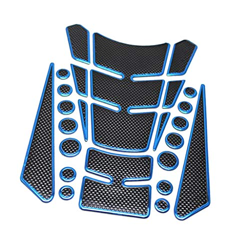 1 Pcs Motorcycle Sticker Gas Fuel Oil Tank Pad Protector Decal for Yamaha for Kawasaki for Honda 200 * 140Mm Motorcycle Accessories (Blue)