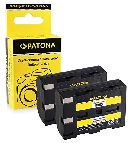 PATONA 2X Akku NP-400 kompatibel mit Minolta Dimage A1 A2 Dynax 5D 7D, in zuverlässiger und geprüfter Qualität