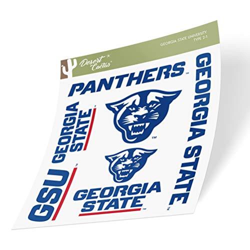 Georgia State University GSU Panthers Full Sheet Sticker Vinyl Decal Laptop Water Bottle Car Scrapbook (Type 2 Sheet)