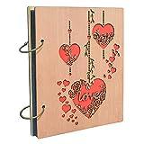 """Umi. by Amazon - album fotografico, design """"Love"""", con tasche 10 x 15, capacità 120 foto"""