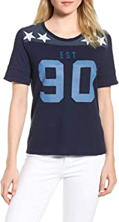 Lucky Brand Women's Graphic-Print Football T-Shirt