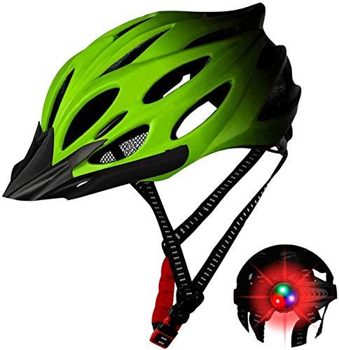 ZFQZKK Casco de Bicicleta Seguridad Ajustable Montaña Ciclo de Montaña Casco Casco de Bicicleta de Bicicleta para Hombres Mujeres Casco de Bicicleta (Color : Yellow)