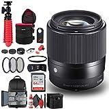 Sigma 35mm f/1.4 DG HSM Art Lens for Canon EF (340-101) Bundle + Backpack + 64GB Card + Lens Case + Card Reader + 3 Piece Filter Kit + Cleaning Set + Flex Tripod + Memory Wallet + IR Remote + More