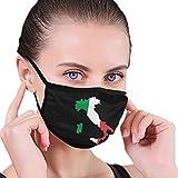 Italia Italien Italienische Flagge Logo Männer Frauen Atmungsaktiv Komfortable Gesichtsschutzhülle Mit Gummiband Für die persönliche Gesundheit Verschiedene Verwendung