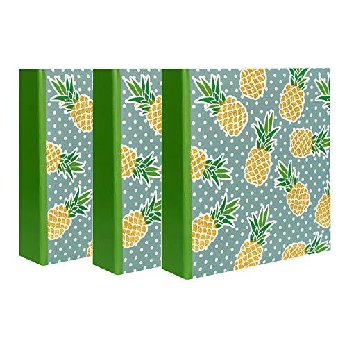 Pineapples - Álbum de fotos con funda para 200 fotos de 10 x 15 cm, lote de 3