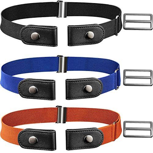 Opplei No Buckle Free Belt Elastische Belt met Vrouwen/Men/Kids Jeans Pants 4 Packs 19