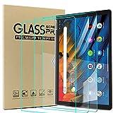 Ash-case [3 Pezzi Compatibile con Lenovo Yoga Smart Tab 10.1 Inches 2019 Tablet - Proteggi Schermo in Vetro temperato - [Bordo Tondo 3D] [Durezza 9H] [Cristallino] [Resistenza ai Graffi], Cancella