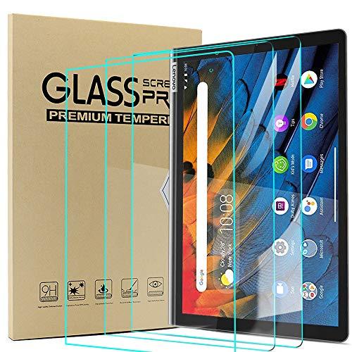 Ash-case Cristal Templado Protector Pantalla para Lenovo Yoga Smart Tab 10.1 Inches 2019, Dureza 9H, Anti-arañazos, Anti-Aceite, Anti-Burbujas, Borde Redondo 2.5D, Transparente (3 Paquete)