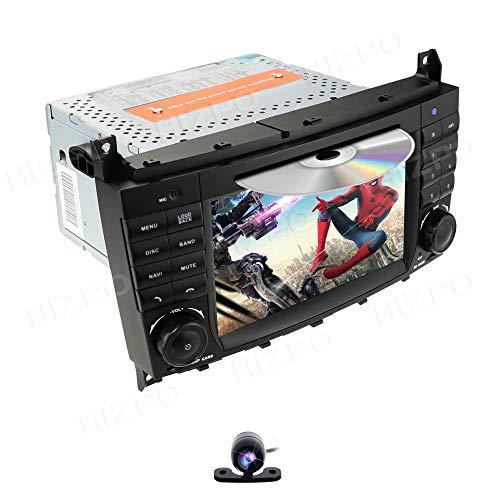 Android Reproductor de DVD para Radio de Coche de 7 Pulgadas, Compatible con Mercedes-Benz Clase C W203 CLK W209, Admite navegación GPS, Dab +, BT, Radio RDS, Enlace Espejo, SWC, OBD2, DVR