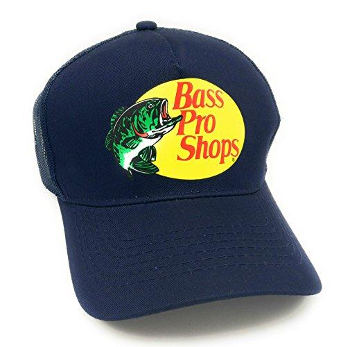 Bass Pro Shop Herren Trucker Hat Mesh Cap – Einheitsgröße Snapback Verschluss – ideal für Jagd & Angeln, Herren, navy, Einheitsgröße