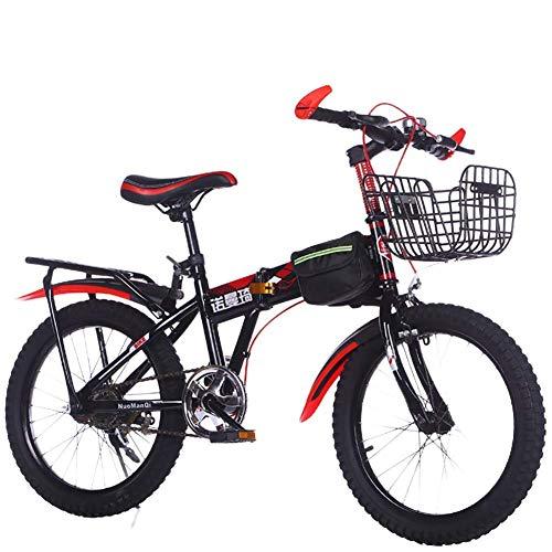 CHHD Bicicleta para niños, Bicicletas de montaña para Hombres y Mujeres de 7-14 años de Edad, carruaje de bebé de 18/20/22 Pulgadas, Plegable de una Sola Velocidad es Ligero y sin esfue