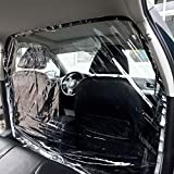 REKOBON Car Taxi Isolation Film, Fully Enclosed Anti-Saliva Transparent Protective Cover, Partition Screen Protective Net for Car SUV Front and Rear, 1.4x2M Plastic