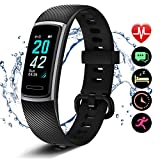 Letsfit Fitness Trackers, Activity Tracker with Heart Rate Monitor, Pedometer Watch with Sleep