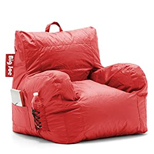 Big Joe Dorm Bean Bag Chair, Flaming Red