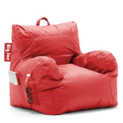 Big Joe 645613 Dorm Bean Bag Chair, Flaming Red