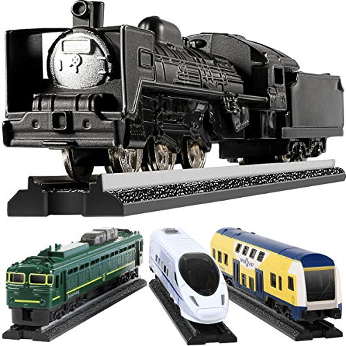 Toy Train Set For Toddlers, GEYIIE Kids Metal Alloy Trains Set City Classical Trains Railway with Track, Metro Bullet Train Locomotive Toy Diecast Educational Toys Gift for Birthday Party Favor Easter