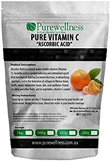 Pure Vitamin C L-Ascorbic Acid 1kg powder Grade A Pharma