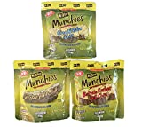 Mt.Olive Munchies Chips 4.8 Fl. Oz Pack Of 3! 3 Flavors Buffalo Kosher, Bread & Butter, And Kosher Petite Dills! Made With Sea Salt And Natural Ingredients! Gluten Free Dill Pickle Chips! (3 Flavors)