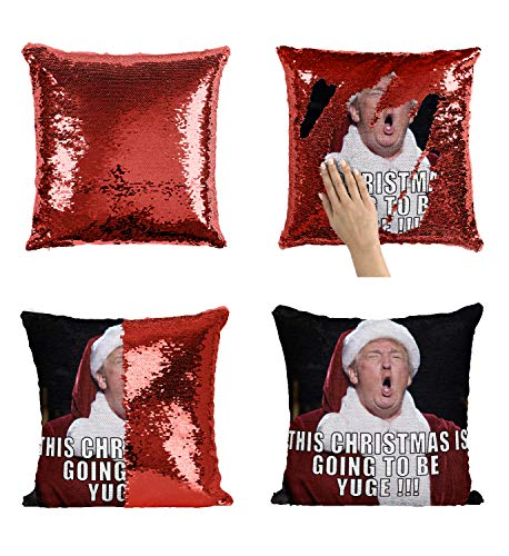 Christmas Baby Jeff Goldblum C15 Sequin Cuscino Pillow Regalo di Natale, Sequin Pillowcase, Federa, Two Color Pillow, for Him, Gift for Him, Magic Pillow, Mermaid Pillow Cover