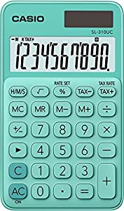 CASIO SL-310UC-GN - Calculadora, 0.8 x 7 x 11.8 cm, color Verde