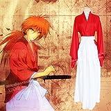 るろうに剣心 緋村剣心 風 コスプレ 衣装 赤 XLサイズ