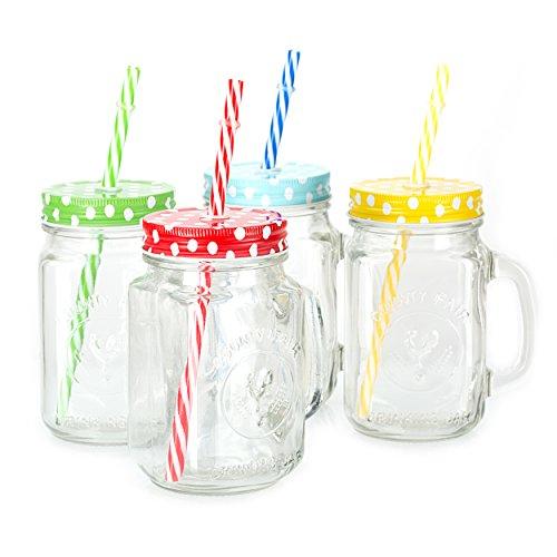Mason Jar Mugs with Lids