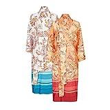 Bassetti Kimono, Baumwolle, Azur, S-M