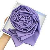SHURROW Solid Color Chiffon Hijab Head Scarf Muslim Malaysian Long Shawl Wrap Bandana