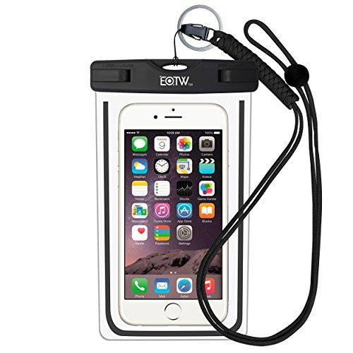Wasserdichte Handyhülle IPX8 Tasche - EOTW Wasserdichte Handy hülle kompatibel für iPhone 12/11 Pro Max Samsung S21/S20/A51/A71 Huawei P40/P30 Segeln Zubehör Smartphone Umhängetasche Universal Unterwasser Umhängetasche (Schwarz)