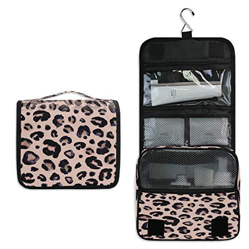 Funnyy Kosmetiktasche mit Leopardenmuster, zum Aufhängen, für Kosmetik, Make-up, Accessoires, Beauty-Tasche für Frauen, Mädchen, Kinder, wasserdicht, unbeschriftet